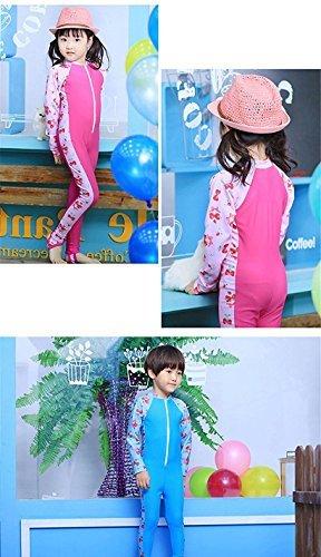 LifeWheel Kids Boys Girls Wetsuit One piece Long Sleeve Swimwear Bodysuit Quick Drying Swimsuit Age 3 9years