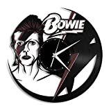 VinylShopUS David Bowie Vinyl Wall Clock Music Bands and Musicians Themed Retro Decor
