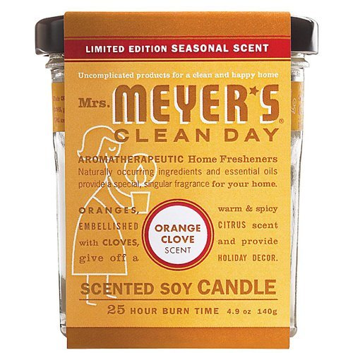 Mrs. Meyer's Clean Day Soy Candle - Orange Clove - 4.9 -
