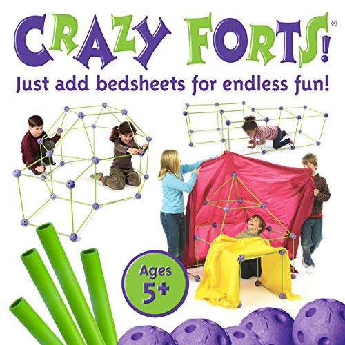 Crazy Forts Combo Fort Bundle Set Complete Play Purple 69 Pieces /& Fort Lights /& Cover Sheet!