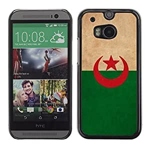 Graphic4You Vintage Algerian Flag of Algeria Design Hard Case Cover for HTC One (M8) by icecream design