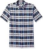 Lacoste Men's Short Sleeve Oxford Check Button Down Collar reg Fit Woven Shirt, Ch7261, Marino, 40