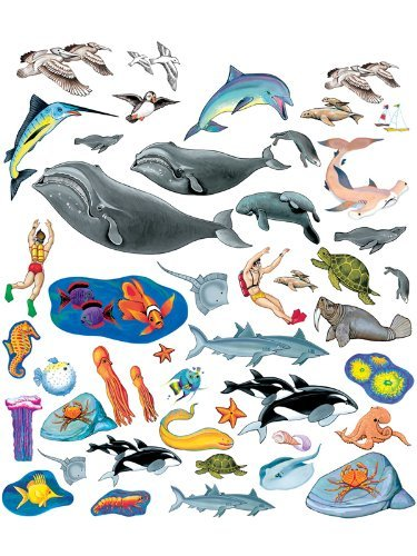 (Little Folk Visuals Sea Life Precut Flannel/Felt Board Figures, 40 Pieces Set)