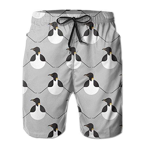 HATS NEW Ball Penguin Dots Line Men's Quick Dry Beach Shorts Swim Trunks (New Mens Penguin)