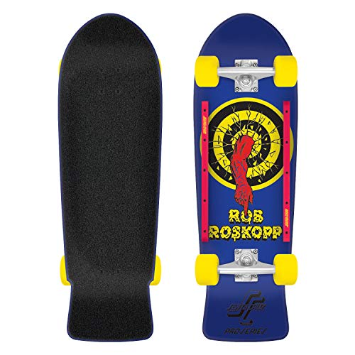 Santa Cruz Roskopp Target 80s Cruzer Complete Skateboard,Multicolored,1 10