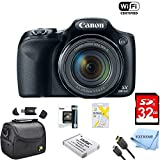 : Canon Powershot SX530 HS 16MP Wi-Fi Super-Zoom Digital Camera 50x Optical Zoom Ultimate Bundle Includes Deluxe Camera Bag, 32GB Memory Cards, Extra Battery, Tripod, Card Reader, HDMI Cable & More