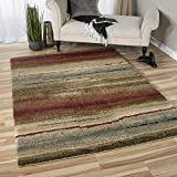 """Orian Rugs 1631 Wild Weave Dusk to Dawn Area Rug, 7'10"""" x 10'10, Multicolor For Sale"""