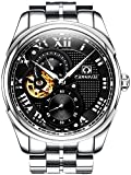 PASOY Carnival Men's Automatic Watch Sapphire Glass Solid Stainless Stell 24 Hours Black Analog Watches