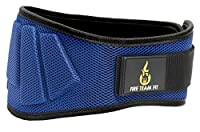 Nylon Weightlifting Belt,, Back Support for Lifting, Sizes and Colors for Both Men and Women (Blue, Medium)