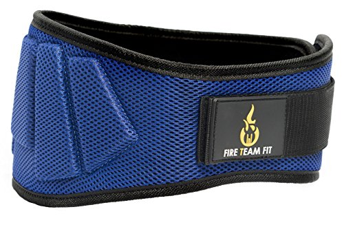 Nylon Weightlifting Belt,, Back Support for Lifting, Sizes and Colors for Both Men and Women (Blue, Small) - Weight Lifting Belt Men