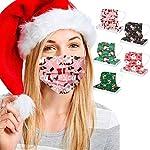 Bumplebee-50-Stck-Damen-Herren-Mundschutz-mit-Motiv-Weihnachten-Bunt-MNS-Mund-und-Nasenschutz-Elch-Druck-Maske-Tcher-Atmungsaktiv-Mund-Tuch-Bandana-Halstuch-Schals