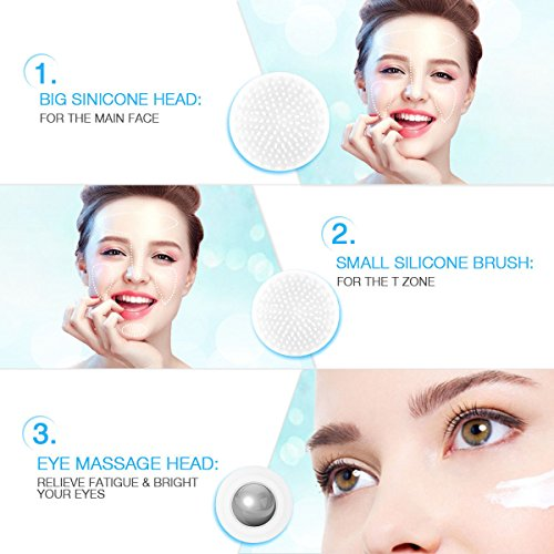 3-in-1 Facial Cleansing Brush Electric face Skin Spa Care Cleanser Massage by mi-art shop (Image #1)