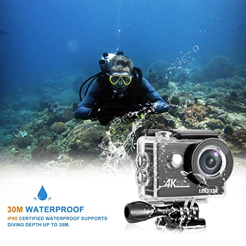 LeadTry HP7R Plus Full 4K HD Action Camera Wifi, Mini 12MP Underwater Photography Cam, 100Ft Waterproof Sport Video Camcorders, 170Deg Wide Angle Lens Recording DV with 2 Batteries post thumbnail