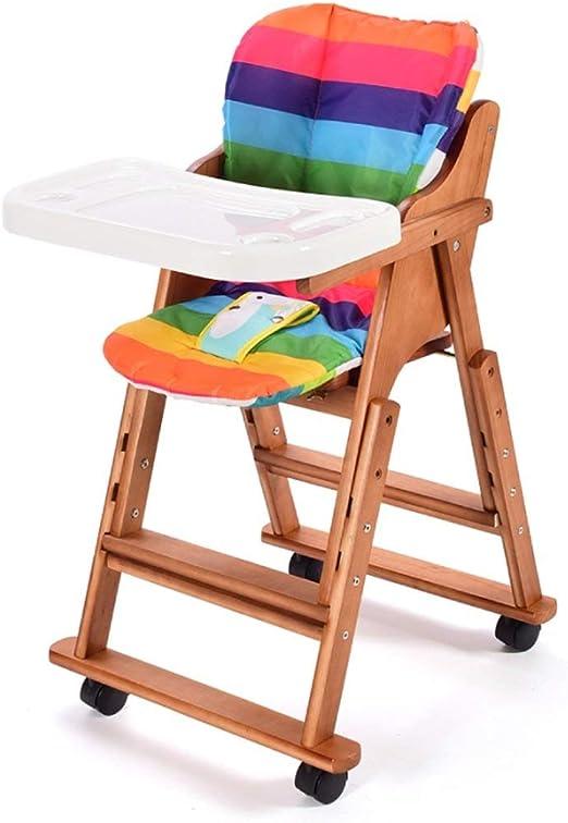 Silla de comedor para niños Mesa de comedor de bebé de madera ...
