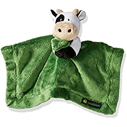 John Deere Baby Boys' Cow Cuddle Blanket, Green, One Size