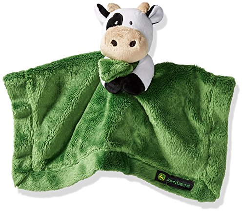 - John Deere Baby Cuddle Snuggle Security Blanket Boy Girl Farm Animal Cow Pig Chick