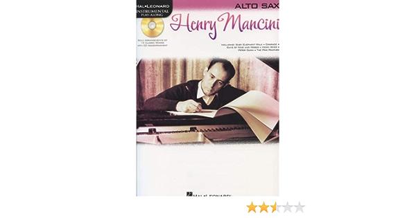 Instrumental Play-Along Alto Sax Henry Mancini