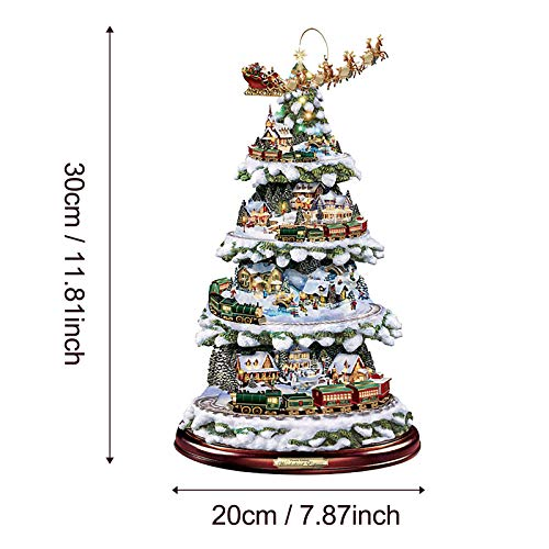 YUGHGH Christmas Window Clings, Christmas Tree Window Sticker, Giant Reusable, for Window Glass Mirror Decorations Ornament Xmas Holiday Party Supplies (B#Red, 1PC)