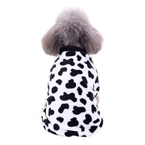 Handfly Ropa para Perros Perros Gatos Pijamas de Perro Suave, Pijamas para Perros Abrigos Ropa