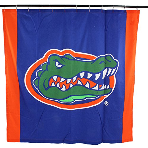 - College Covers NCAA Florida Gators Big Logo Shower Curtain, Blue, 72