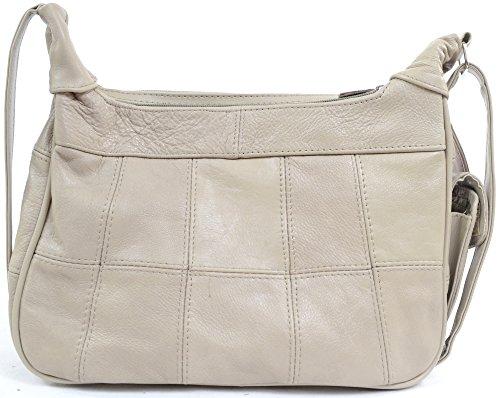 Tan Black Mobile Mink Fawn Phone Leather Bag Beige with Shoulder Pocket Handbag Ladies Brown P8SwH