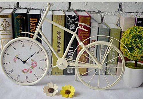 Jingzou Simple, modern, creative, home, wall clock bike, model, wrought iron, pendulum clock by Jingzou