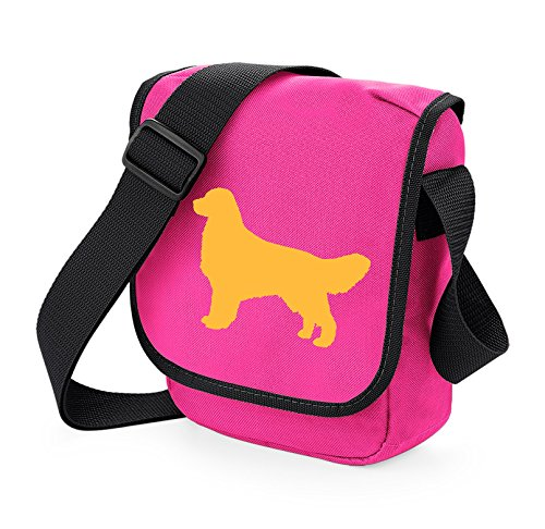 Colours Golden Choice On Of Retriever Pink Darker Gift Bag Silhouette Shoulder Reporter qxF4TC8qw