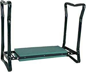 Foldable Garden Kneeler Seat, Portable Garden Bench Chair with Tool Pouch and EVA Kneeling Pad & Handles, Green