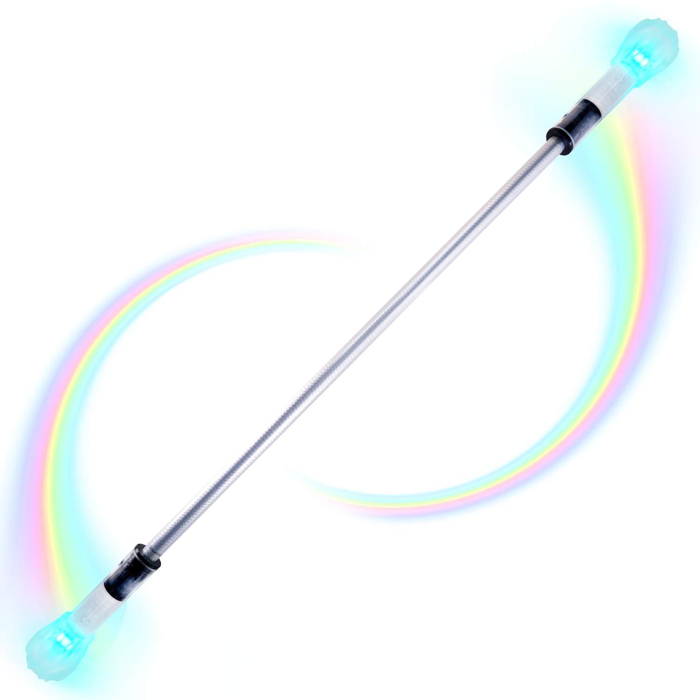 Flowtoys lumina twirl baton v2 LED Light Up Twirling Baton - Silver (28 inches) by Flowtoys (Image #1)