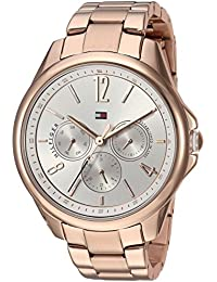 Womens Sport Quartz Stainless-Steel-Plated Casual Watch, Color:Rose Gold