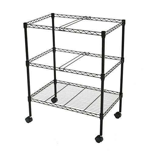 Finnhomy Sturdy 2-Tier Metal Rolling File Cart for Letter Size and Legal Size Folder, Black by Finnhomy