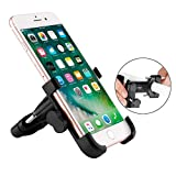 Bike Phone Mount, Universal Adjustable Aluminum Rolly Bicycle Handlebar Cell Phone Holder for iPhone XR, XS, X, 8, Samsung Galaxy S9/S9 Plus, S8/S8 Plus & Other Mobile Smartphone Devices (Black)