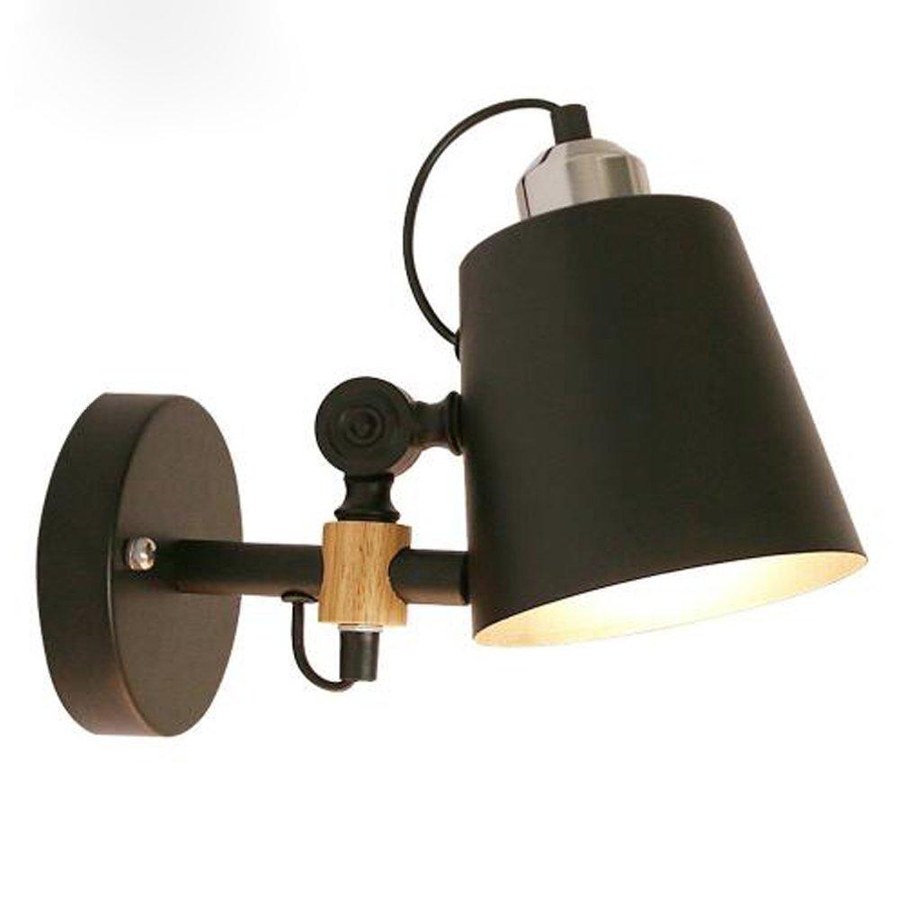 DPG Éclairage Moderne Appliques Murales Art Déco Noir Lampes Murales Applique en Métal pour la Maison Éclairage Intérieur Escalier Salle de Bain (L'ampoule n'est pas incluse) [Classe énergétique A++] DPG Lighting