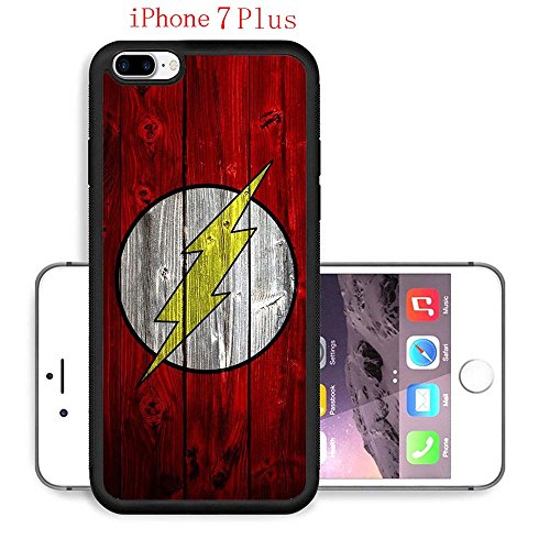 iPhone 7 Plus Case, The TV Series The Flash 57 Drop Protection Never Fade Anti Slip Scratchproof Black Soft Rubber (Female Cartoon Characters Names)