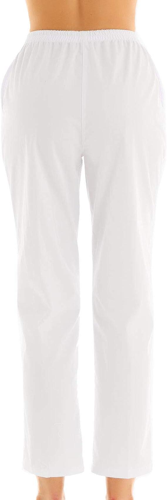 Freebily Unisex Uniforme Pantalón Sanitario de Trabajo Cintura ...