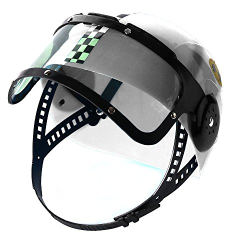 [White Child Costume Racing Helmet -Costume Accessory Funny Party Hats] (Race Car Driver Kids Costumes)