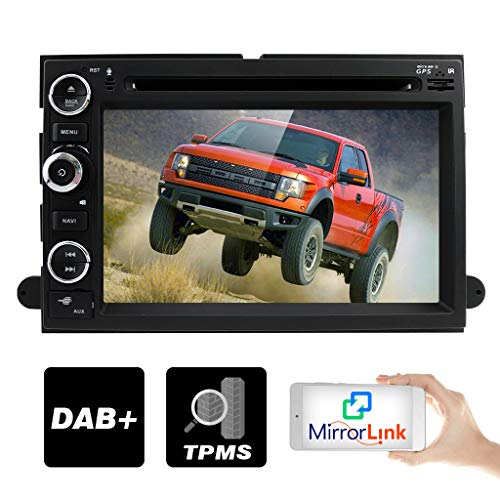 hizpo in Dash GPS Navigation Double 2 Din Head Unit DVD Car Player Radio Bluetooth 4.0 for Ford F150 F-150 F250 F-250 F350 F-350 F450 F-450 F550 - Ford 2013 Factory F350 Radio