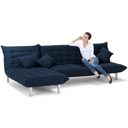 Furny Designer Five Seater L-Shaped Sofa (Blue)