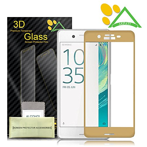 3D FULL Tempered Glass for Sony Xperia XA (Gold) - 1