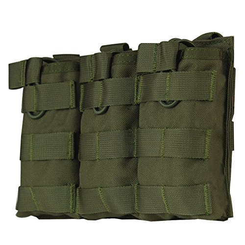 Wynex M4 M16 AR-15 Type Magazine Pouch Triple Mag Holder Open-Top Military Airsoft CS Game