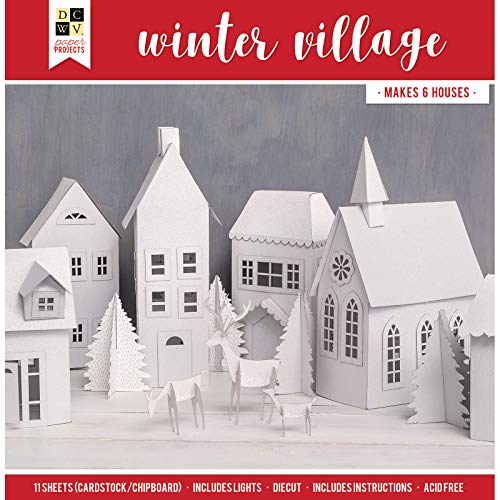 (DCWV 614731 Winter Village Paper, Multicolor)