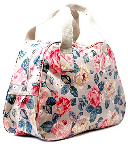 Cath Kidston Overnight Bag in 'Forest Rose' in Taupe