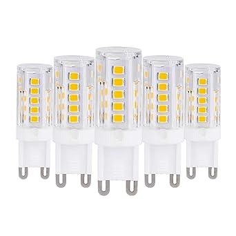 ELINKUME Lámparas LED G9 2.5W blanco cálido, reemplaza bombilla 25W, 210 lúmenes,