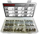 Stainless Steel Metric Grease Fitting Kit - 100 Piece Assortment