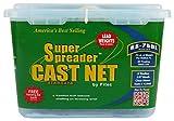 Fitec RS750-L Super Spreader Cast Net Clear 6' radius, 3/8 mesh, 3/4 Lb