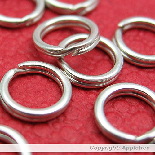 100 Solid Sterling Silver Split Rings 5mm Wire 24 gauge -Top Quality Split - Mini Sterling Beading Silver