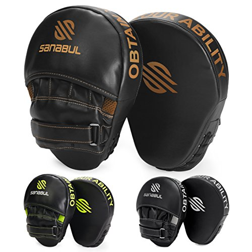 Sanabul Essential Curved Boxing MMA Punching Mitts (Metallic Copper) from Sanabul
