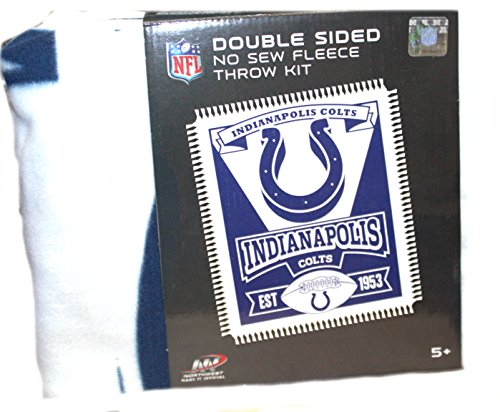 - The Northwest Company NFL Indianapolis Colts Double Sided No Sew Fleece Blanket Kit