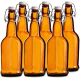 Chef's Star CASE OF 6 - 16 oz. EASY CAP Beer Bottles - AMBER