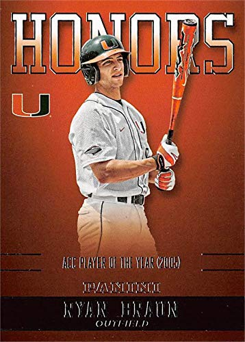 Ryan Braun baseball card (Miami Hurricanes, ACC Player of the Year) 2015 Panini Team Collection Honors #RB-MIA